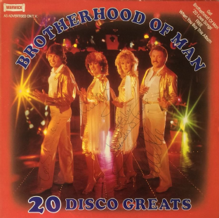 Brotherhood Of Man ‎- 20 Disco Greats (LP) (Signed) (EX/VG+)